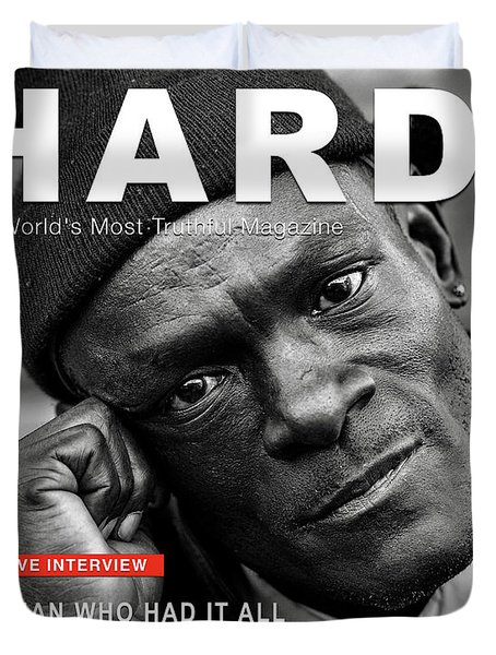 Hard Times Magazine Duvet Cover