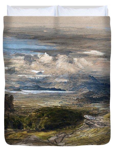 Harlech Castle - Digital Remastered Edition Duvet Cover