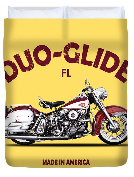 Harley Model Fl 1960 Duvet Cover