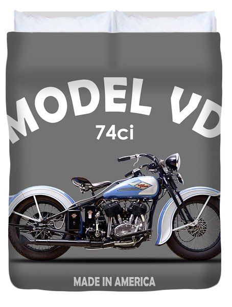 Harley Model Vd 1935 Duvet Cover