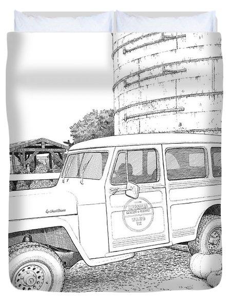 Harvest At Magnolia - Ink Duvet Cover