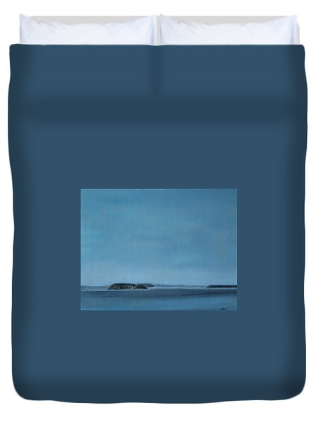 Hat Island View From Harborview Park Duvet Cover