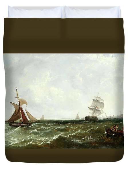 Hauling In The Nets Duvet Cover
