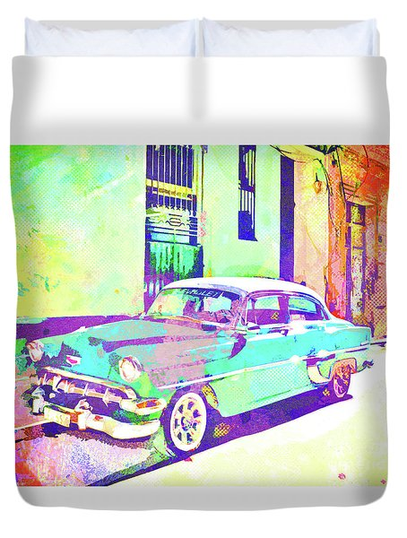 Havana, Cuba - Classic In Abstract Duvet Cover