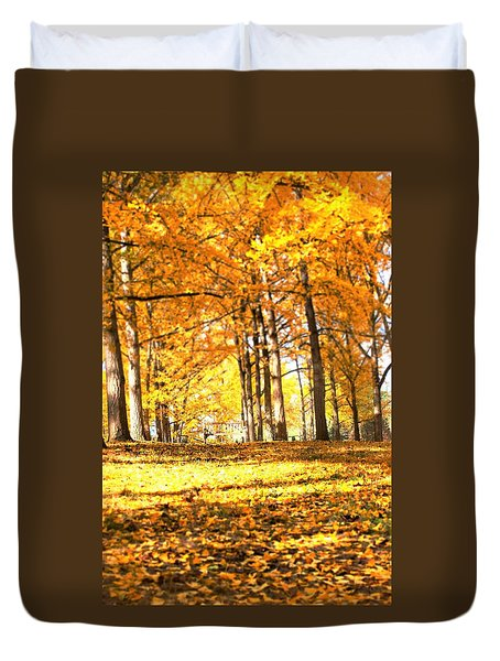 Duvet Cover featuring the photograph Have A Seat by Candice Trimble