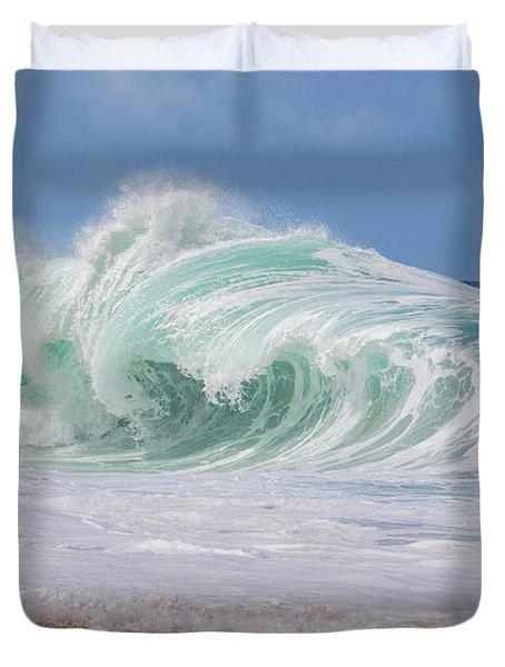 Hawaiian Shorebreak Duvet Cover