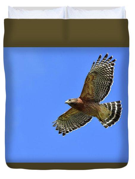 Hawk On The Go Duvet Cover