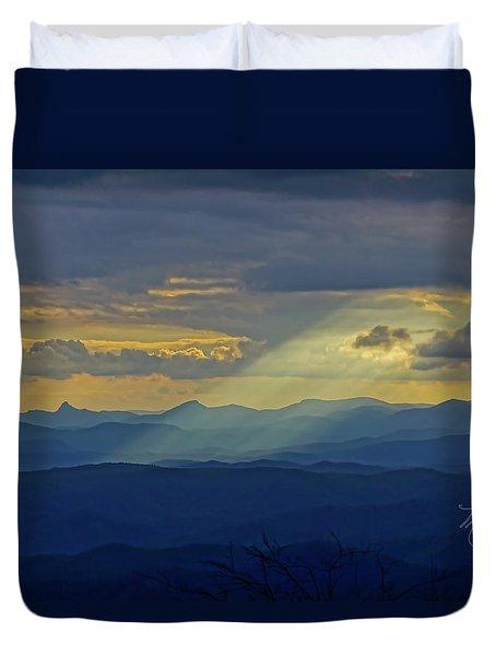 Hawks Bill Mountain Sunset Duvet Cover
