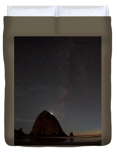 Haystack Night Under The Stars Duvet Cover