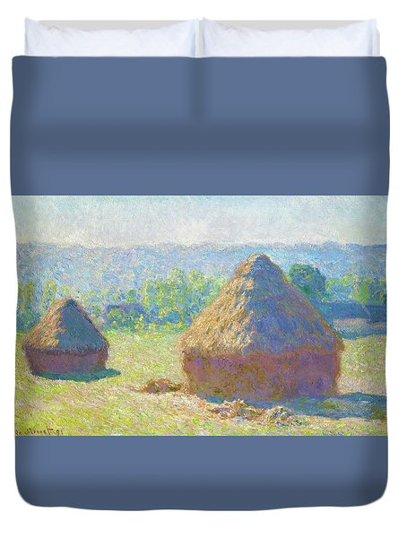 Haystacks, End Of Summer - Digital Remastered Edition Duvet Cover