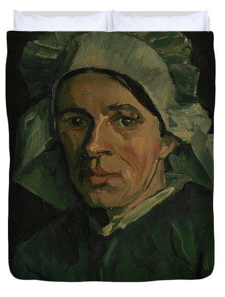 Head Of A Woman - 3 Duvet Cover