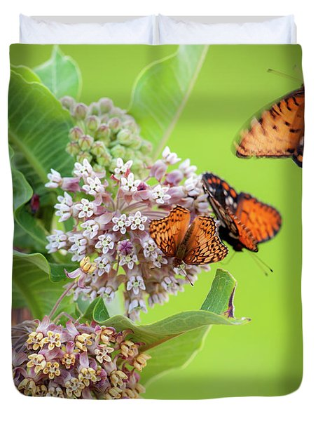 Head Over Heals For Milkweed Duvet Cover