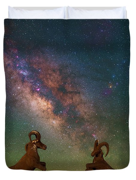 Head To Head With The Galaxy Duvet Cover