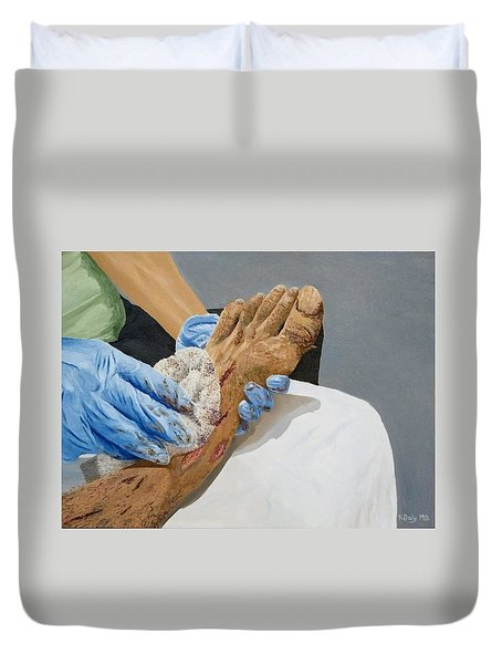 Healing Hands Duvet Cover