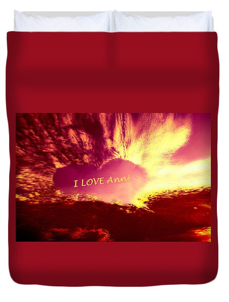 Heart Ann Duvet Cover