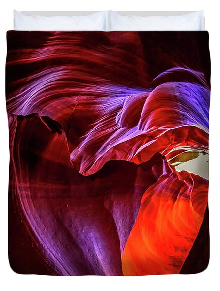 Heart Of Antelope Canyon Duvet Cover