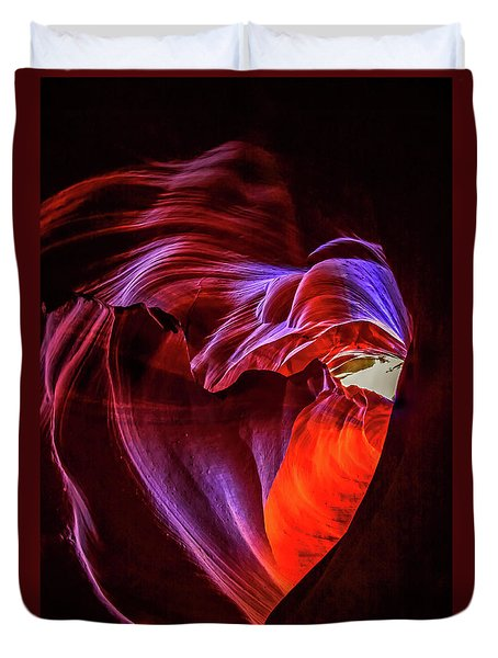 Heart Of Antelope Canyon Duvet Cover
