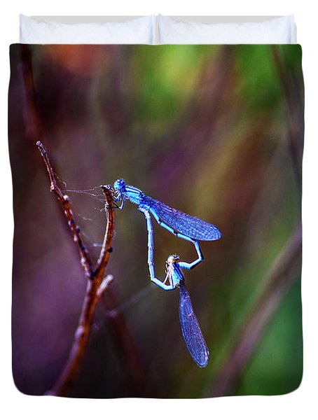 Heart Of Dragonfly Duvet Cover