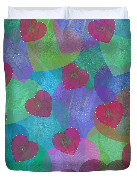 Hearts Aflame Duvet Cover