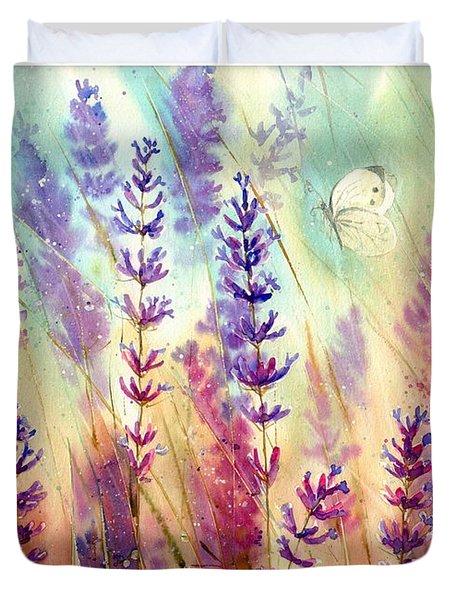 Heathers In Haze Duvet Cover