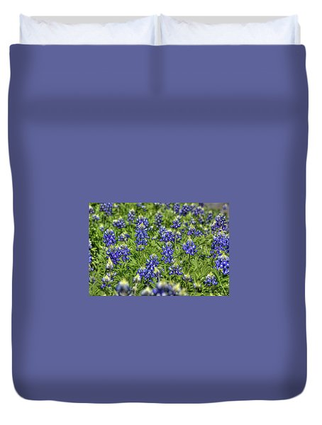 Heavenly Bluebonnets Duvet Cover