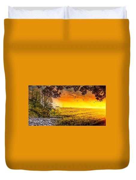 Heaven's Morning Glow Duvet Cover