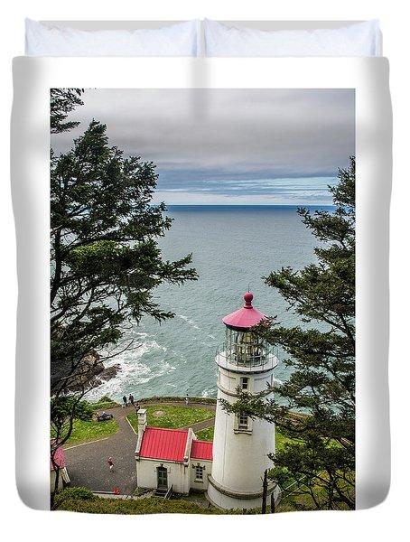 Heceta Head Lighthouse Duvet Cover
