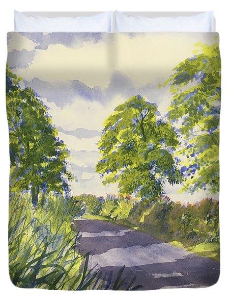 Hedgerows On Rudston Road Duvet Cover