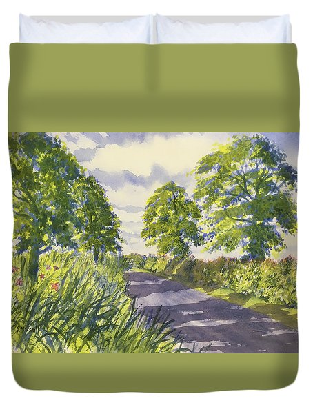 Hedgerows On Rudston Road Duvet Cover