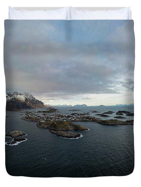 Henningsvaer Lofoten Duvet Cover