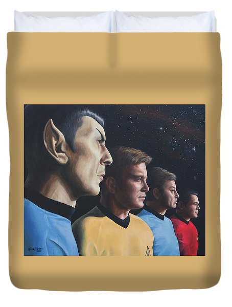 Heroes Of The Final Frontier Duvet Cover