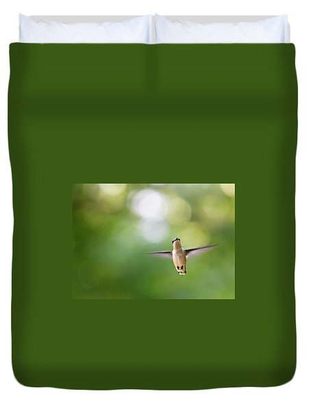 Duvet Cover featuring the photograph Hi by Candice Trimble