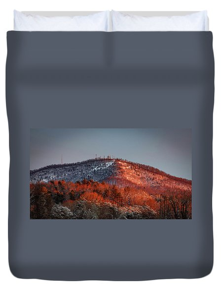 Hibriten Mountain - Lenoir, North Carolina Duvet Cover