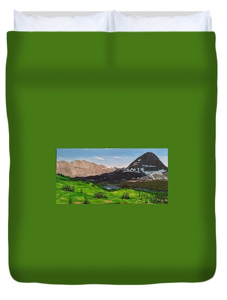 Hidden Lake Pass Duvet Cover