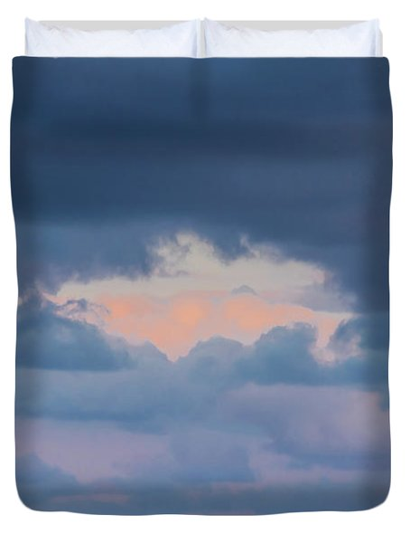 High Above The Clouds Duvet Cover