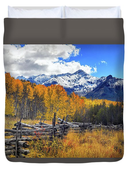 High County Ablaze Duvet Cover