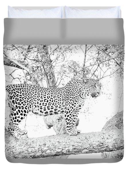 High Key Leopard Duvet Cover