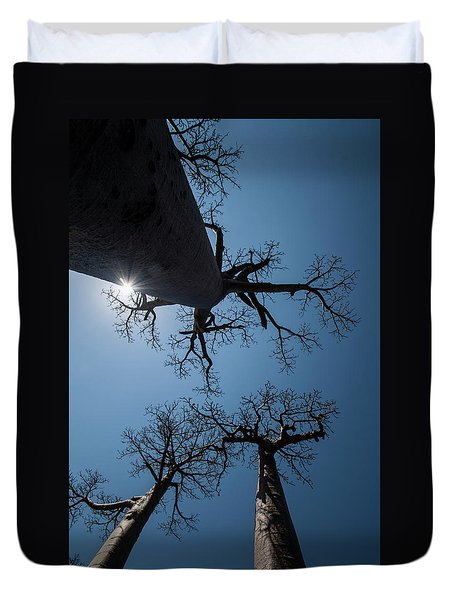 Duvet Cover featuring the photograph High Noon by Alex Lapidus