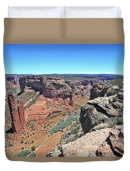 High Noon At Spider Rock Duvet Cover