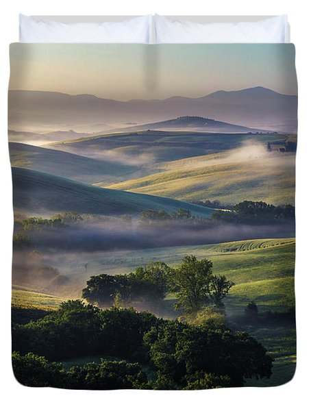Hilly Tuscany Valley Duvet Cover