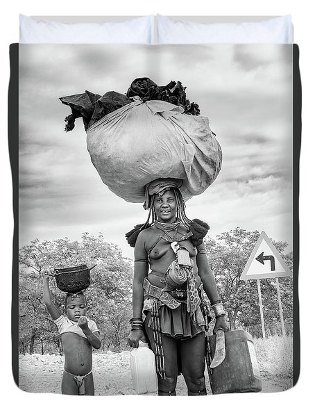 Himba Both Carrying  Duvet Cover
