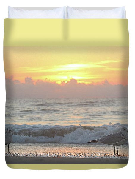 Duvet Cover featuring the photograph Hint Of Sunrise by Robert Banach