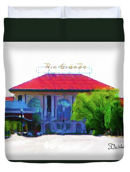 Historic Rio Grande Station Duvet Cover