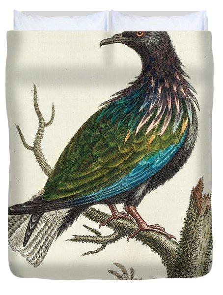 History Of Uncommon Birds Duvet Cover