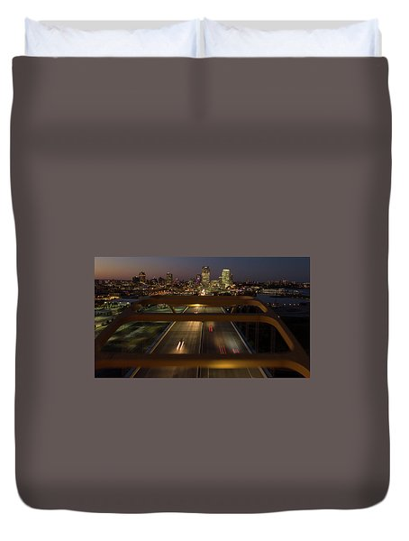 Duvet Cover featuring the photograph Hoan View by Randy Scherkenbach