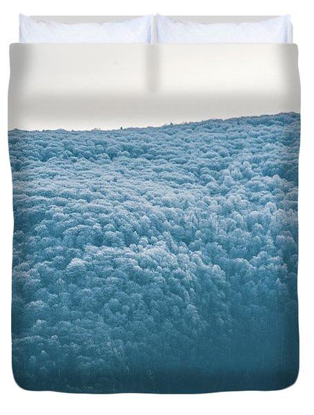 Hoarfrost Blue Mountain Duvet Cover