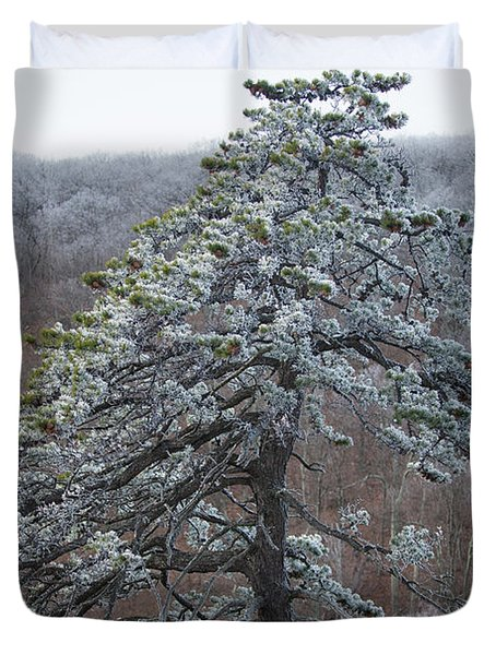 Hoarfrost Gathers Duvet Cover