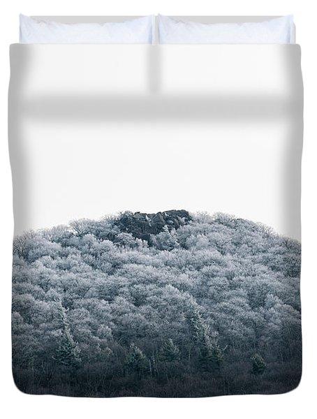 Hoarfrost On The Mountain Duvet Cover