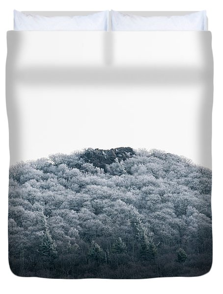 Hoarfrost On The Mountain Duvet Cover
