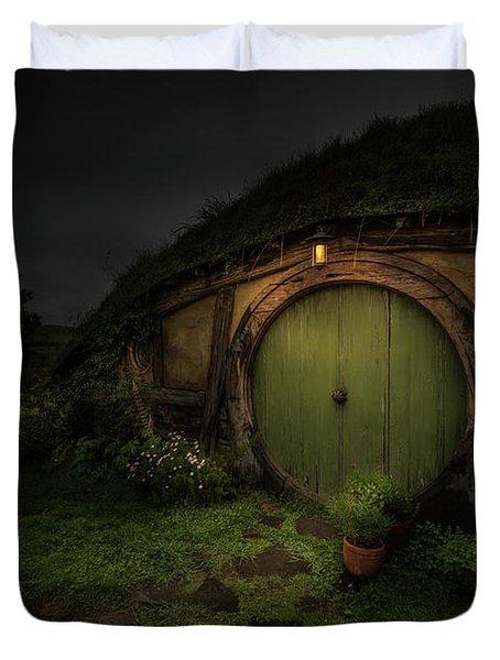 Hobbiton At Night #1 Duvet Cover